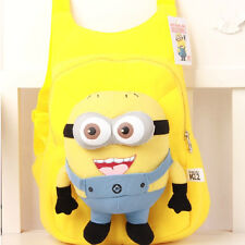 Plush Minion 3D Eyes Dave Jorge Stewart Kids Soft Backpack Bag