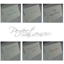 Wedding Table Party Personalised Guest Place Name Pre Creased White Cards
