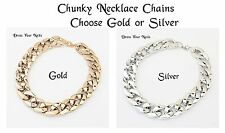 ~Necklace Chunky Choker Neck Chain Costume Jewellery Lightweight Beach + Anklet