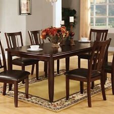 New Dining Room Furniture Set Dining Table & 6 Chairs in 2 Sizes 7Pcs Dining Set