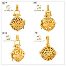 18K yellow Gold Harmony Ball Angel Caller CHime Sounds pendant Relax Jewelry