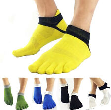 Men's Socks Pure Cotton Sports Toe Socks Breathable Five Finger Socks-K LO UK