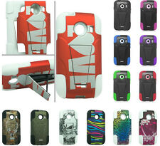 HYBRID SILICONE SKIN + HARD KICKSTAND CASE FOR Samsung Galaxy Model Cell Phones