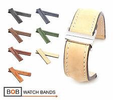 BOB Marino Vintage Calf Deployment Band for Breitling, 20-22 mm, 7 colors, new!