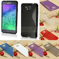 S Line Soft TPU Gel Silicone Case Cover Skin For Samsung Galaxy Alpha G850 F/A/T