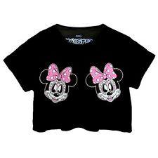 Twisted Minnie Day Of The Dead Girl Skull Crop Top muertos gothic emo scene