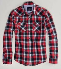 NWT AMERICAN EAGLE MENS MT L XLT XXL RED PLAID WESTERN COWBOY SHIRT PEARL SNAPS
