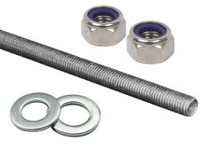 M6 THREADED ROD BAR ZINC PLATED STUDDING FULLY THREADED MILD STEEL (VALUE PACK)