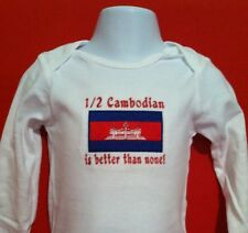 1/2 Cambodian is better than none! Cambodia. Carter's Baby Bodysuit Embroidery