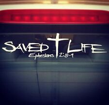 Saved Life Christian Jesus Car Window Decals Vinyl - Supports Youth Ministry