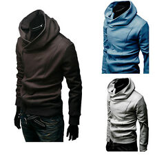 Mens Slim Fit Blazers Zipper Slim Fit Hoodie Biker Jacket Casual Top Coat