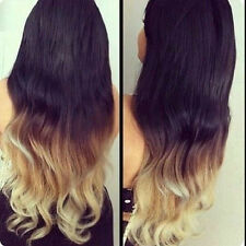 Ombre Hair Extensions 100% Indian Virgin Remy Human 115 GRAMS