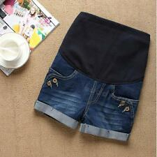 Comfortable Casual Denim Maternity Short Pants Great for Pregnant Women BDRG