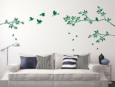 Tree Branches and Birds Art Vinyl Wall Sticker, DIY Wall Decal- HIGH QUALITY