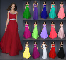 New Chiffon Long Bridesmaid Dress Formal Cocktail Prom Evening Gown Stock 6-26