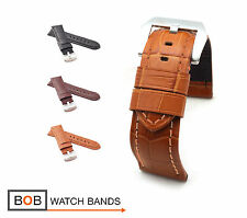 BOB Alligator Style Watch Band/Strap for Panerai (BN), 24 mm, 3 colors, new!