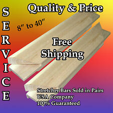 """Pair of Canvas Stretcher Bars Strips 3/4"""" x 1-5/8"""" 8,10,12,16,18,20,24,30,36,40"""