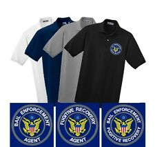 Bail Enforcement Fugitive Recovery Agent Embroidered Polo Shirt Bail Bonding