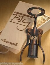 NEW CAMPAGNOLO BIG CORKSCREW SILVER OR BRONZE  WOOD GIFT BOX WINE ITALY CYCLING!