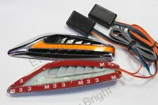 1set Universal Blade Steering Light Fender  Car LED Side Marker Turn Signal Lamp
