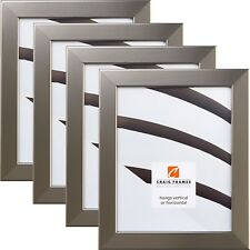 """Craig Frames Various 1.25"""" Contemporary Silver Picture Frame 4-Piece Wall Set"""