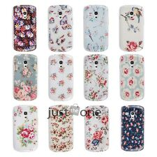 Retro Rose Daisy Owl Prints Case Cover Protector f. Samsung galaxy S3 mini i8190