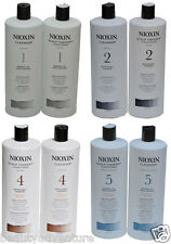 Nioxin System 1/2/3/4/5/6 Cleanser Shampoo and Scalp Revitaliser Conditioner 1L