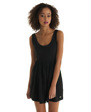 New Womens Superdry Luxe Academy Dress Solid Black