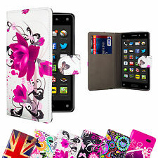 Brand New Designer PU Leather Book Wallet Case Cover for Amazon Fire Phone