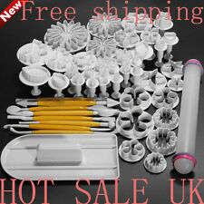 47pcs Mini Sugarcraft Cake Decorating Fondant Icing Plunger cookie Cutters Tools