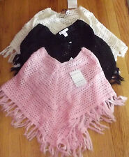 NWT GIRLS AIRPORT CLOTHING BRAND PONCHO/SHAWL