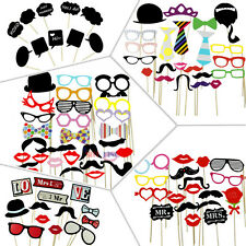 Lot DIY Photo Booth Props Mustache Wedding Birthday Christmas Party Decoration Y