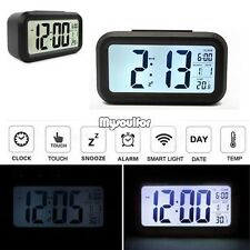 4 in 1 Digital Large LED snooze wall desk alarm calendar clock Time Thermometer