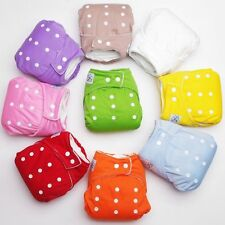 Baby Infant Waterproof Reusable Cloth Diaper Nappy Insert Colors Size Adjustable