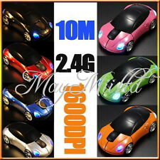 1600DPI 3D Car Shape 2.4G Wireless Optical Mouse USB Receiver PC laptop WIN7 O
