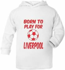 Born To Play For Liverpool Cute Present Baby New Born Gift Supersoft Baby Hoodie