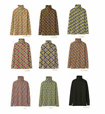 【NEW】 Orla Kiely for Uniqlo Heattech Long Sleeve Turtle Neck Top 【Sold Out&Rare】