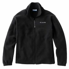 Men's Columbia Black Fleece Jacket 2 Pocket-Zip Front-Embroidered  M-L-XL-XXL