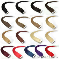 20pcs Tape-in 100% Human Hair Extensions Remy Hair 17 Colors Straight 5 Length