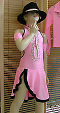 DANCE DRESS STONED AGES 5-11 YEARS DISCO MODERN LATIN TAP JAZZ FREESTYLE PINK