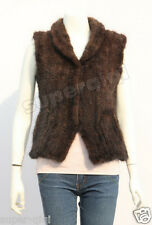 New100%Real Knitted Mink Fur Vest Gilet Waistcoat Sweater Coat Women Winter Gift