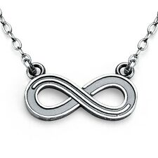 Infinity Symbol Charm Pendant Necklace #925 Sterling Silver #Azaggi N0168S