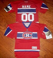 Montreal Canadiens Kids size 4/7 Reebok NHL Hockey Jersey add any name & number