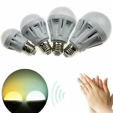 E27 Sound Voice Control LED Globe Bulb Warm Day White SMD Energy Saving Light