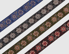 "6 Yd Jacquard Trim 0.90"" wide Woven Border Sew Embroidered Ribbon Lace T861"