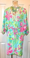 "Lilly Pulitzer Wilda Caftan Dress, ""Island Cocktail"", Crystal Waters, NWT"