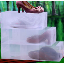 Clear Shoe Boxes Storage Stackable Drawer Container Transparent Box Colorful Box