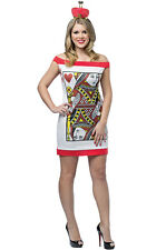 Brand New Casino Queen of Hearts Poker Dress Adult Costume