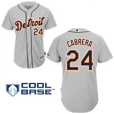 MAJESTIC Detroit Tigers MIGUEL CABRERA Baseball Jersey - Men's - GRAY - NEW