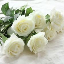 Latex Moisturizing White Rose Flowers For Wedding And Home Design Bouquet Decor